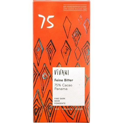 Suklaalevy Vivani tumma 75% kookossokerilla 80 g LUOMU