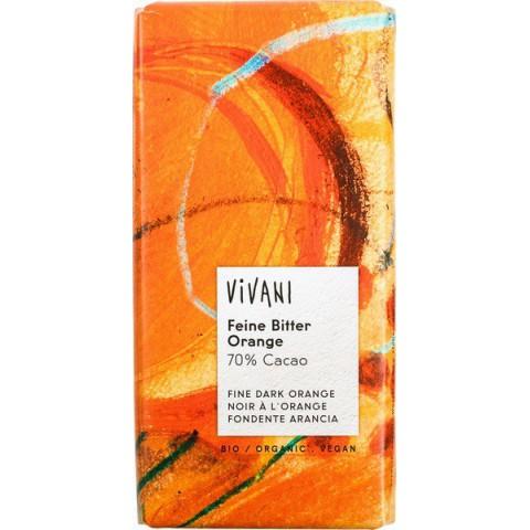 Suklaalevy Vivani tumma appelsiinilla 100 g LUOMU