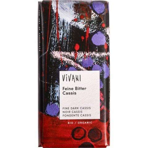Suklaalevy Vivani tumma mustaviinimarjoilla 100 g LUOMU