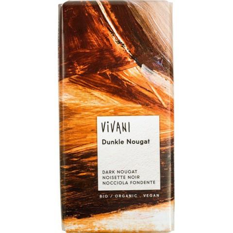 Suklaalevy Vivani tumma Nougat 100 g LUOMU