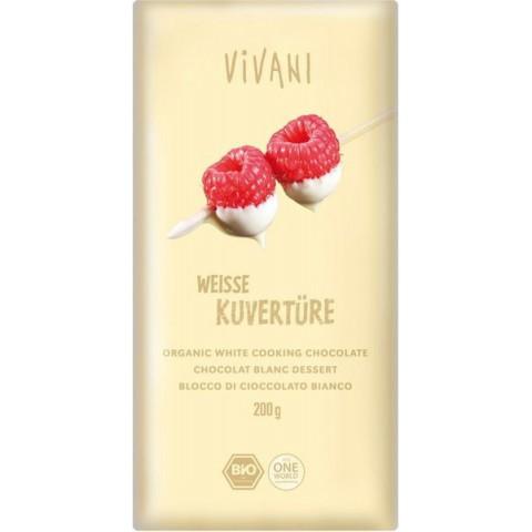 Suklaalevy Vivani valkoinen taloussuklaa 200 g LUOMU