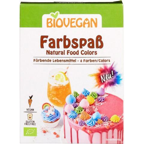 Elintarvikevärit, gluteeniton, vegaaninen, 6 väriä, 6 x 8 g LUOMU