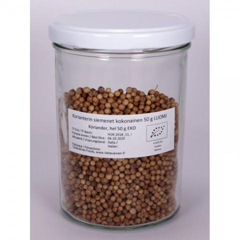 Korianterin siemenet kokonainen 50 g LUOMJ