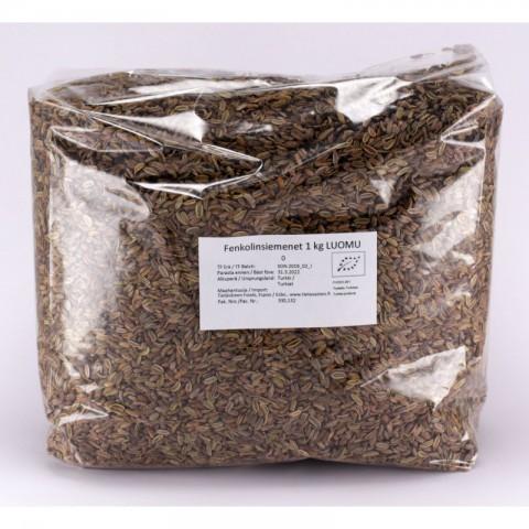 Fenkolinsiemenet 1 kg LUOMU