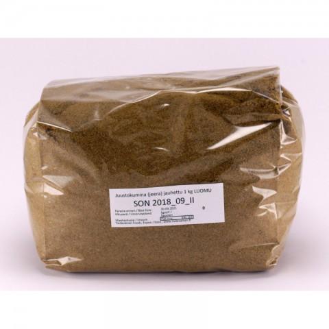 Juustokumina (jeera) jauhettu 1 kg LUOMU