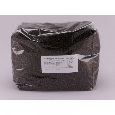 Mustapippuri kokonainen 1 kg LUOMU