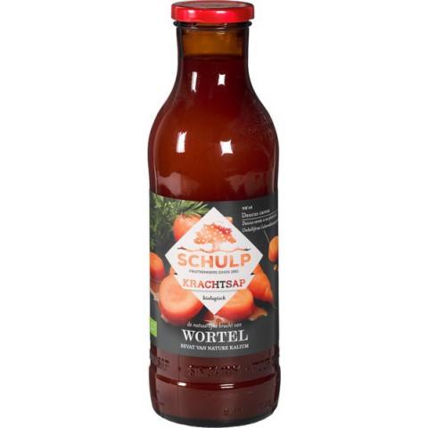 Porkkanamehu lasipullossa Schulp 750 ml LUOMU