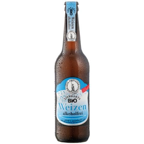 Olut Liebharts alkoholiton vehnäolut 500 ml LUOMU