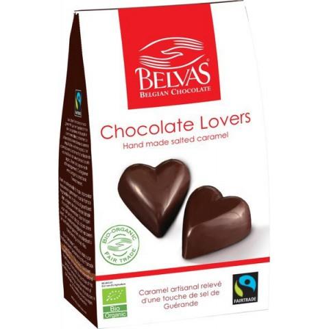 Belgialaiset käsintehdyt suklaasydämmet 100 g LUOMU