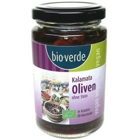 Kalamata oliivit, kivetön yrttiöljyssä 200g LUOMU